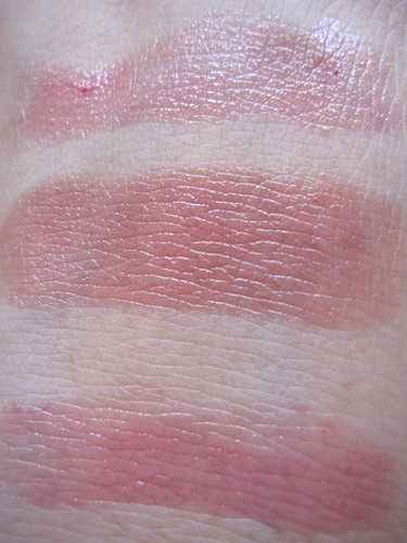 Swatch: Peach Parfait (top), Pink Truffle (middle), Berry Smoothie (bottom)
