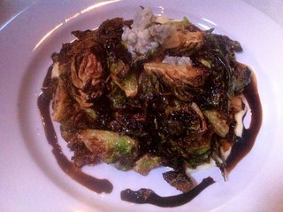 Fried Brussel Sprouts and Blue Cheese at Sidecar in San Luis Obispo