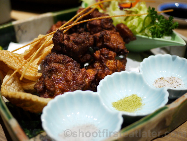 karaage fried chicken thighs with 3 kinds of salt-001