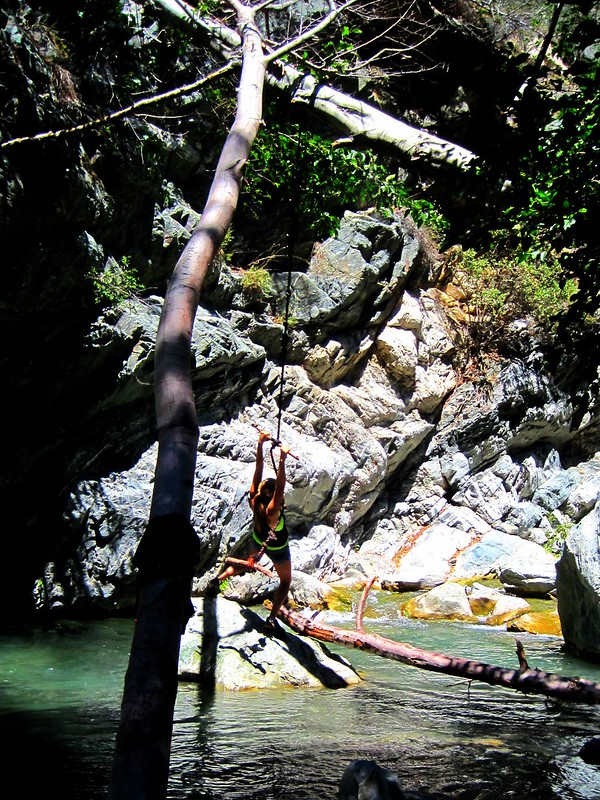 Rope swing upstream from the Bridge to Nowhere