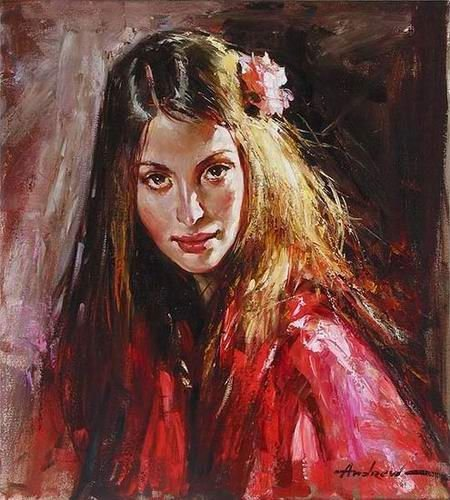 LYDIA-Andrew-Atroshenko-inspired-by-100-Hand-Painted-Oil-Painting-Museum-Quality-Repro-Gift1