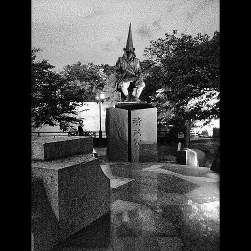 #KatoKiyomasa Statue next to the #Kumamoto Castle