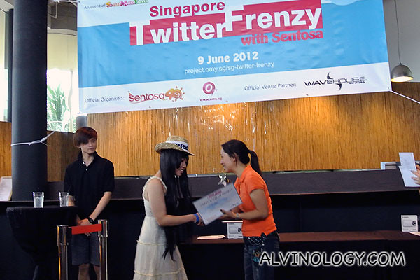 Chiro on stage receiving her award