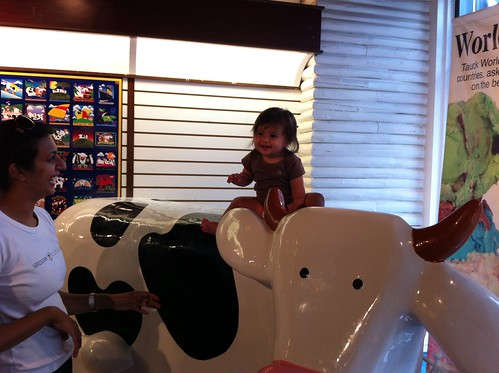 Sarvani Riding a Cow