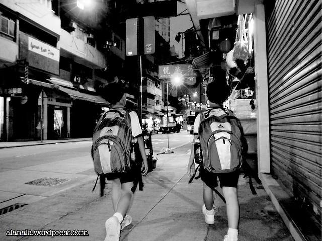 Kids going home