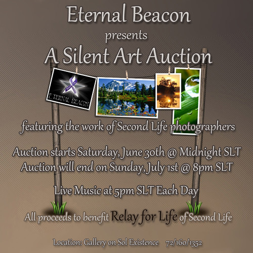 NOW OPEN.. Silent Art Auction for Relay for Life of Second Life .. by °•♫•°:.Sunshine.:°•♫•°