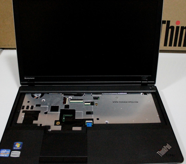 ThinkPad Edge E520 with keyboard removed