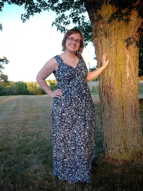 Colette Parfait dress, turned maxi!