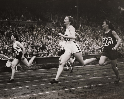 Semi Finals of the Women's 200 metres at the Olympic Games, London, 1948.
