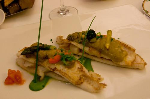 Plato en el restaurante El Serbal, Santander