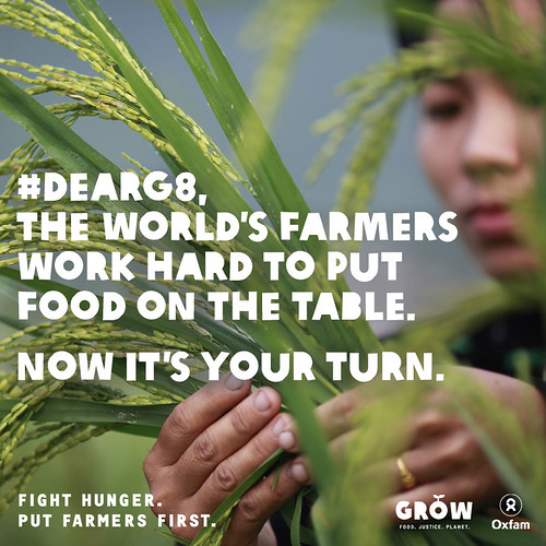 #DearG8, the world's farmers work hard to put food on the table. Now it's your turn.