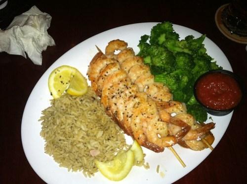 Beef O'Brady's Shrimp Dinner