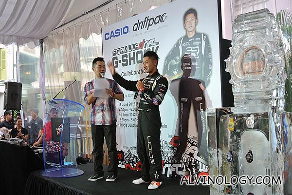Ken Gushi greeting the media