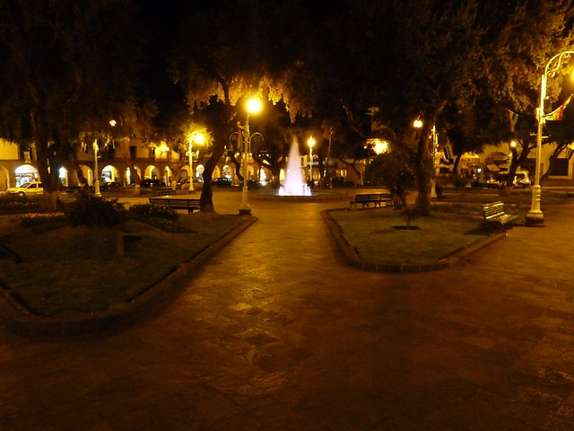 Plaza Regocijo at Night