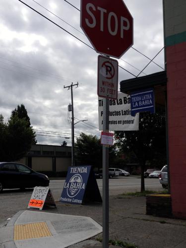 Tiny little sale sign