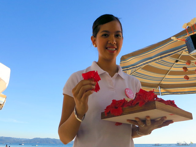 Discovery Shores Boracay beach pampering- flower for your hair
