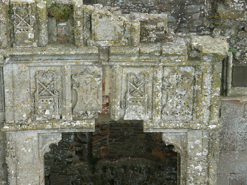 Decorative detail over fireplace