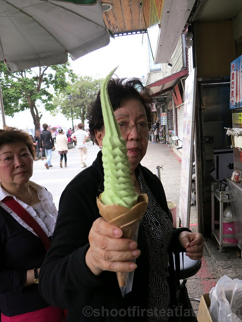 Tamsui, Taipei- soft serve ice cream