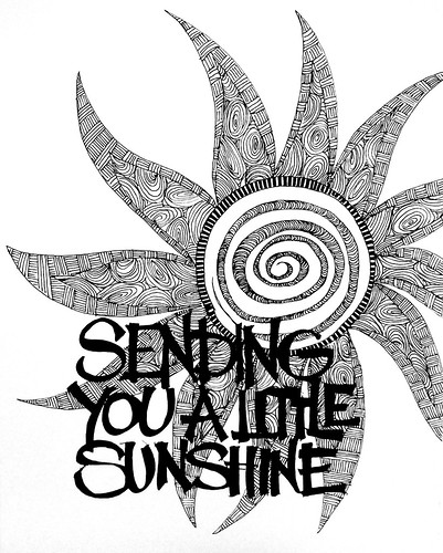 Zentangle: Sending you a little sunshine
