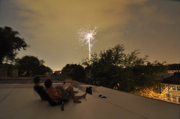 Rooftop fireworks 4