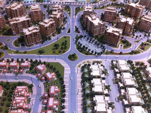 Different kinds of Emirati Housing. Cityscape Abu Dhabi.