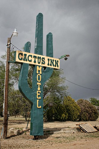Cactus Inn Motel Sign. McLean, Texas, USA, Route 66. Photo Copyright Jen Baker/Liberty Images; all rights reserved.