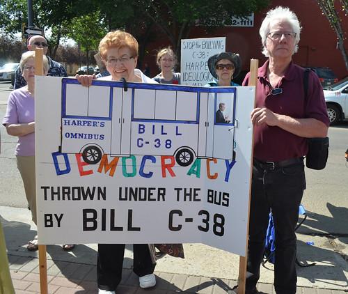 Seniors Protest Bill C-38