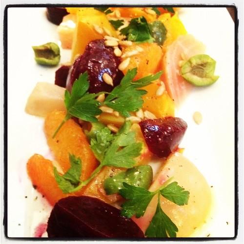 Roasted Beet Salad by apronsandsneakers