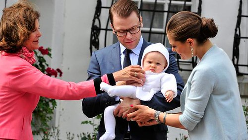 Queen Silvia, Prince Daniel, Princess Estelle and Crown Princess Victoria