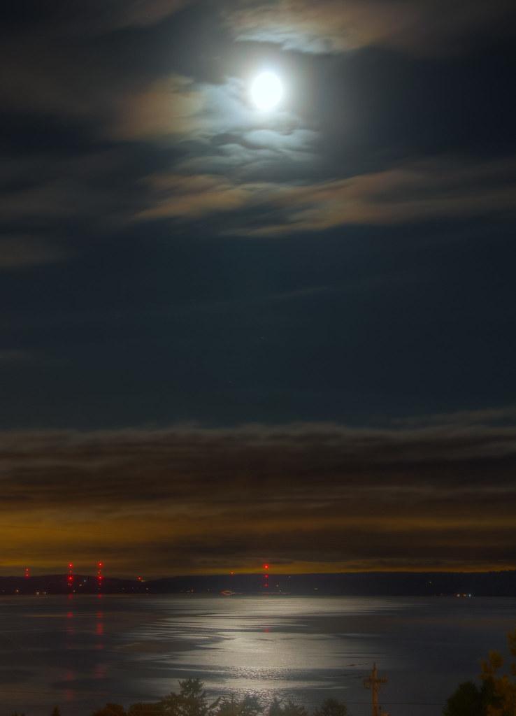 Moonlit Puget Sound