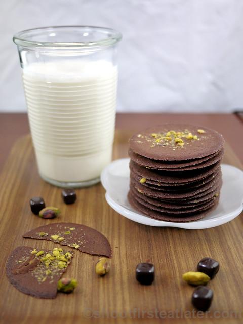Dragonfly Desserts - chocolate pistachio crisps