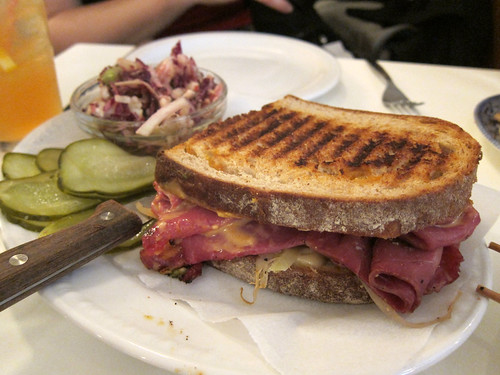 Half a Reuben on Rye, Cauliflower Slaw