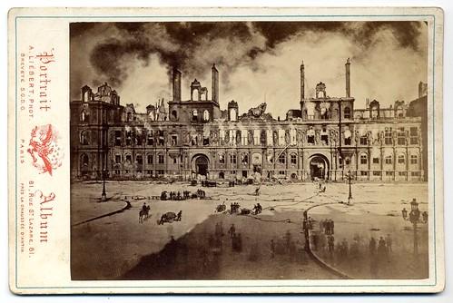 Paris Commune 1871, Alphonse J. Liébert (1827-1913), Paris - City Hall