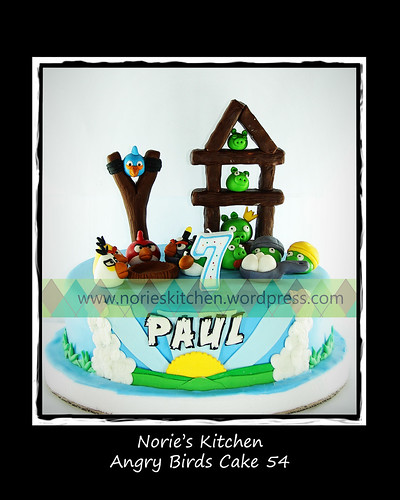 Norie's Kitchen - Angry Birds Cake 54 by Norie's Kitchen