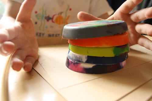 crayon cookies stack