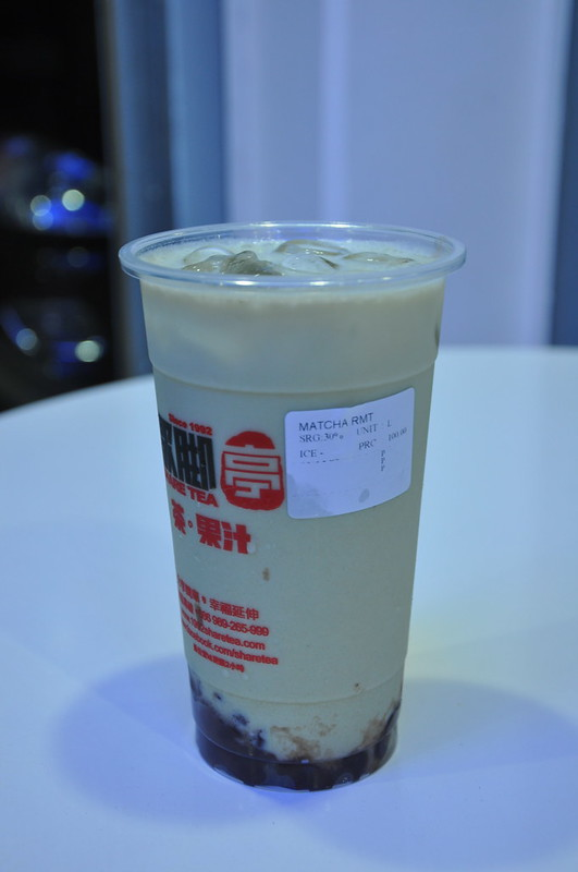 Matcha Red Bean Milk Tea