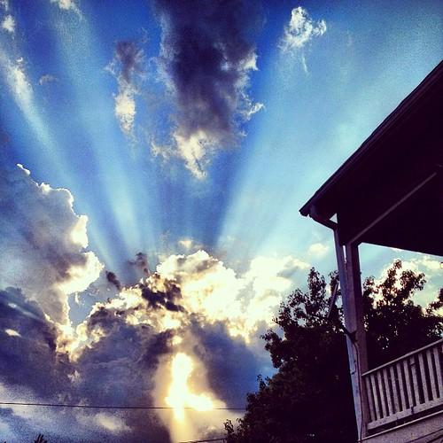 Crepuscular rays, aka God like beams