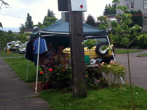 Tented sale