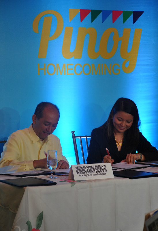 "DOT-Globe MOA signing ""It's More Fun in the Philippines"" and Pinoy Homecoming"