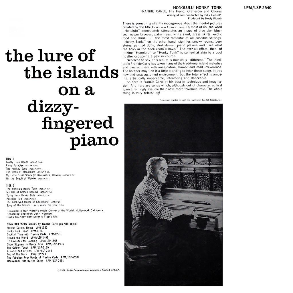 Frankie Carle - Honky Tonk Piano