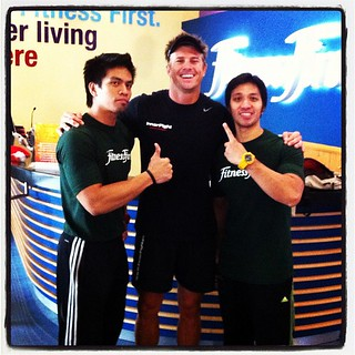 """Rocking it with the boys at some """"health club"""""""