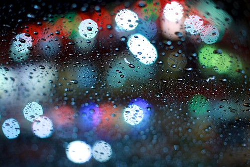 raindrops and bokeh