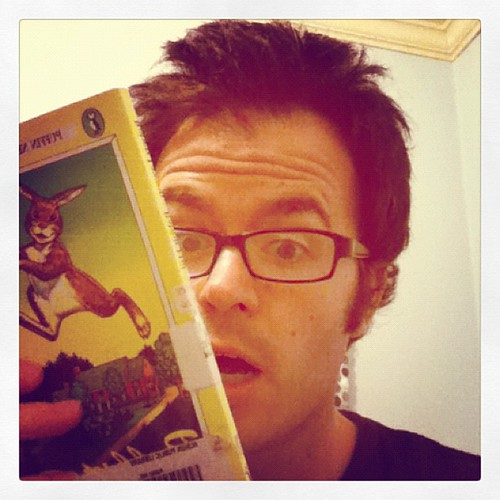 #bookaday: Rabbit Hill by Robert Lawson - I'm trying to look creepy like the cover rabbit. @mrschureads