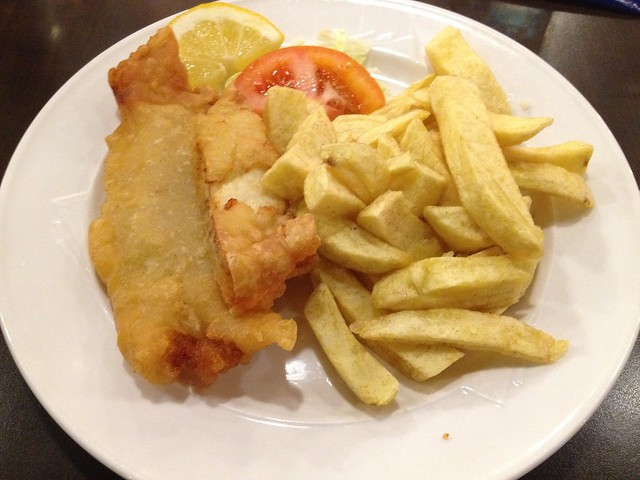 Fresh cod fillet & chips - Fusciardi's Cafe