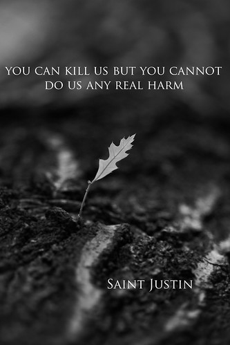 Saint Justin Feast Day by Eleven ~ were different but the same -