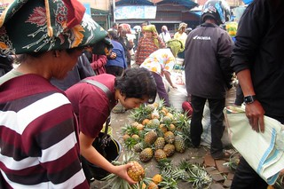 buying pineapple