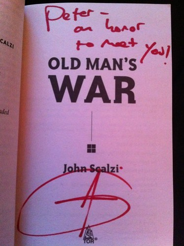 Autographed Old Man's War
