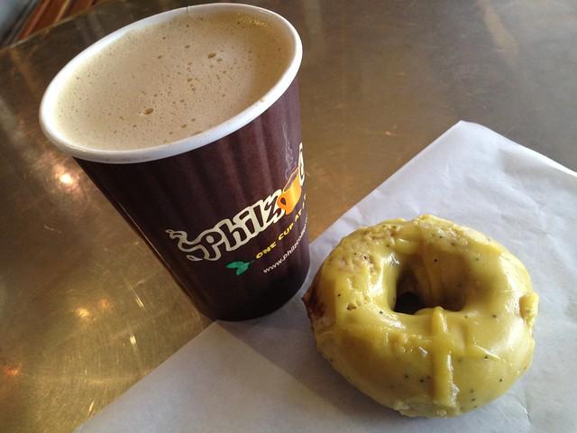 Lemon poppy seed donut - Philz Coffee