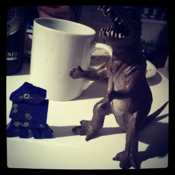 Mr T Rex says thumbs up