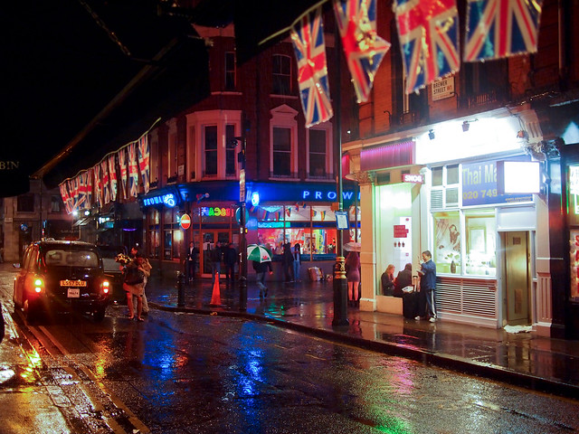 London Soho at Night